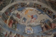 54 Catino absidale - Assunzione della Vergine nel sott'arco Battesimo di Gesù