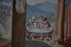 60a Particolare - Anime del Purgatorio dentro un vascone di acqua bollente