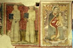 60 Due figure di San Bernardino e; Madonna in trono,