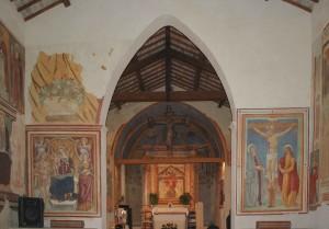 Crocefissione e Cristo in trono